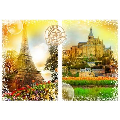 Puzzle  Grafika-02270 Travel around the World - Frankreich