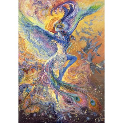 Puzzle  Grafika-02284 Josephine Wall - Blue Bird