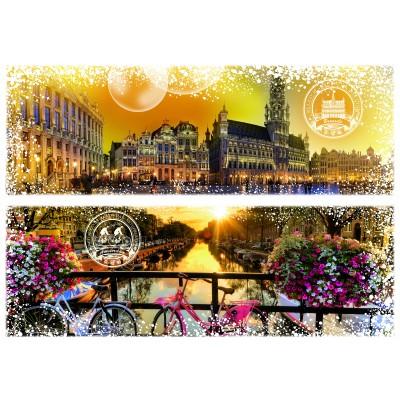 Puzzle  Grafika-02290 Travel around the World - Belgien und Niederlande