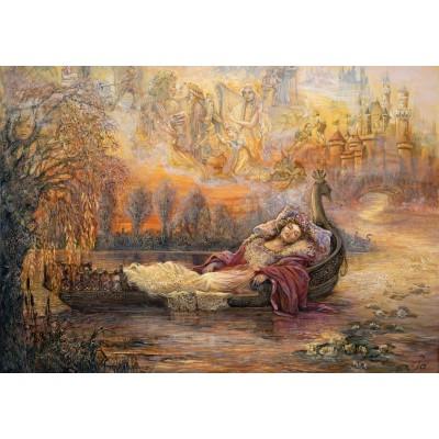Puzzle Grafika-02305 Josephine Wall - Dreams of Camelot
