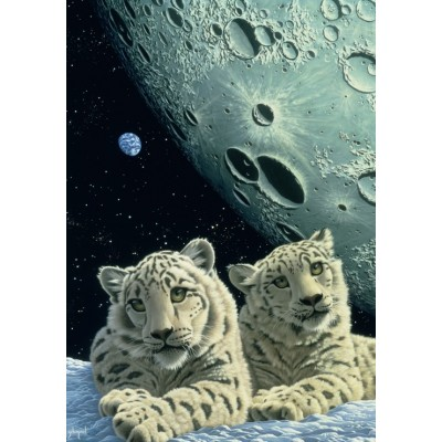 Puzzle  Grafika-02417 Schim Schimmel - Lair of the Snow Leopard