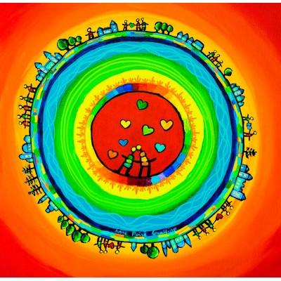 Puzzle  Grafika-02431 Anne Poiré & Patrick Guallino - Les Riches Heures aux Sept Cœurs