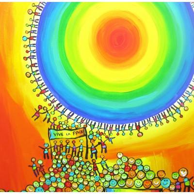 Puzzle Grafika-02440 Anne Poiré & Patrick Guallino - Vive La Paix