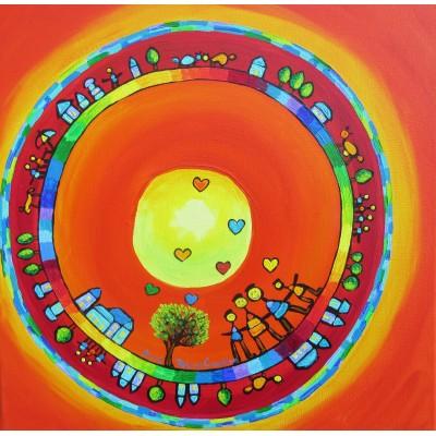 Puzzle  Grafika-02443 Anne Poiré & Patrick Guallino - Les Riches Heures au Bonheur Partagé