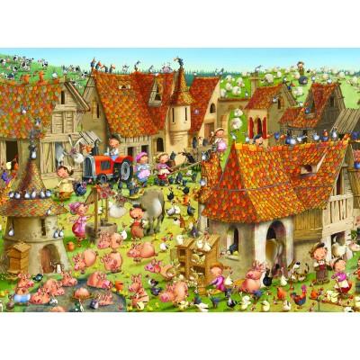 Puzzle  Grafika-02482 François Ruyer - Bauernhof