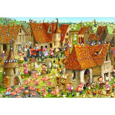 Puzzle Grafika-02483 François Ruyer - Bauernhof