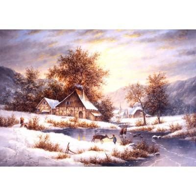 Puzzle  Grafika-02488 Dennis Lewan - Amber Sky Of Winter