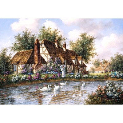 Puzzle  Grafika-02490 Dennis Lewan - Admiring The Swans