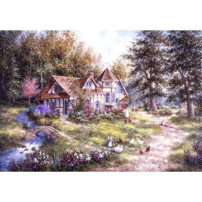 Puzzle Grafika-02493 Dennis Lewan - Glacier Ridge Manor