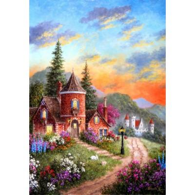 Puzzle  Grafika-02497 Dennis Lewan - Castle Ridge Manor