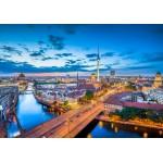 Puzzle  Grafika-02505 Deutschland Edition - Skyline von Berlin in der Dämmerung