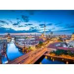 Puzzle  Grafika-02506 Deutschland Edition - Skyline von Berlin in der Dämmerung