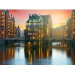 Puzzle  Grafika-02510 Deutschland Edition - Hamburg, Alte Speicherstadt