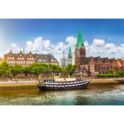 Puzzle  Grafika-02536 Deutschland Edition - Blick auf historische Stadt Bremen