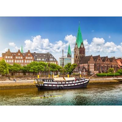 Puzzle  Grafika-02537 Deutschland Edition - Blick auf historische Stadt Bremen