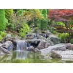 Puzzle  Grafika-02547 Deutschland Edition - Wasserfall im japanischen Garten, Bonn