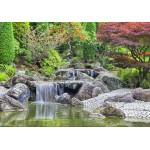 Puzzle  Grafika-02548 Deutschland Edition - Wasserfall im japanischen Garten, Bonn