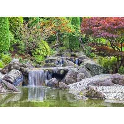 Puzzle  Grafika-02549 Deutschland Edition - Wasserfall im japanischen Garten, Bonn