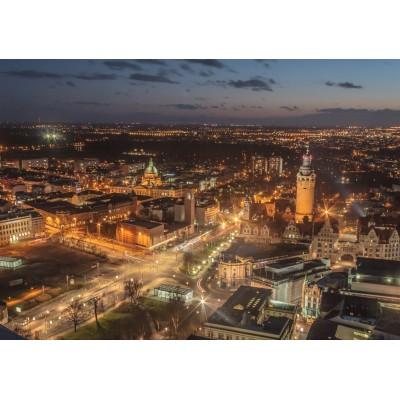 Puzzle Grafika-02563 Deutschland Edition - Skyline, Leipzig
