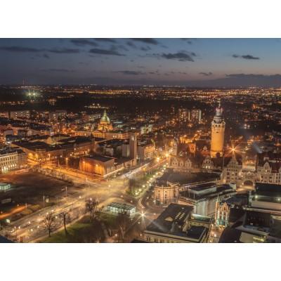Puzzle  Grafika-02564 Deutschland Edition - Skyline, Leipzig