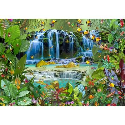 Puzzle  Grafika-02572 François Ruyer - Wasserfall