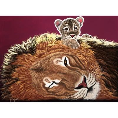 Puzzle  Grafika-02576 Schim Schimmel - Daddy and the King