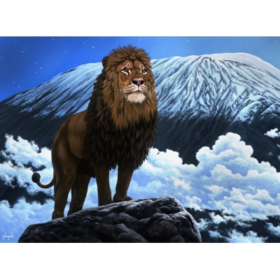 Puzzle  Grafika-02599 Schim Schimmel - King of Kilimanjaro