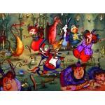 Puzzle  Grafika-02637 François Ruyer - Das Hexenfest
