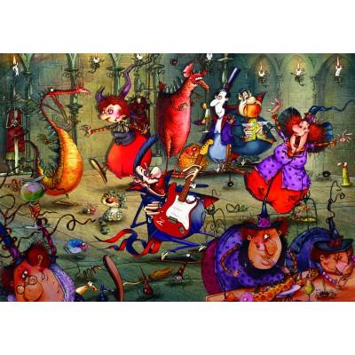 Puzzle  Grafika-02638 François Ruyer - Das Hexenfest