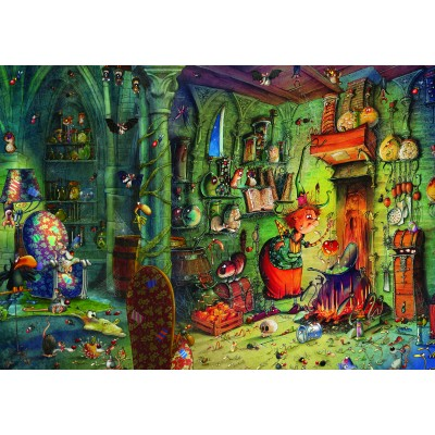 Puzzle  Grafika-02656 François Ruyer - In der Küche!