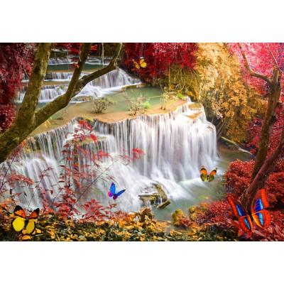 Puzzle  Grafika-02673 Deep Forest Waterfall