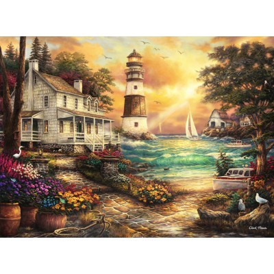 Puzzle  Grafika-02691 Chuck Pinson - Cottage by the Sea