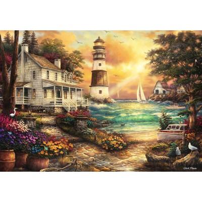 Puzzle  Grafika-02692 Chuck Pinson - Cottage by the Sea
