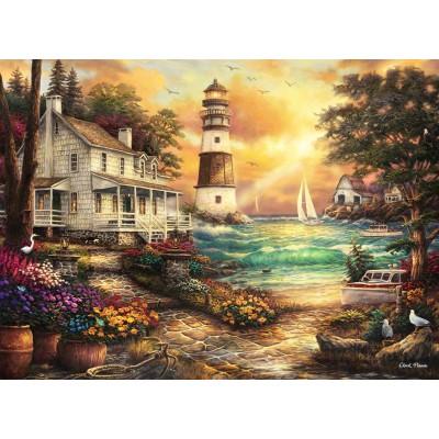 Puzzle Grafika-02693 Chuck Pinson - Cottage by the Sea