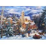 Puzzle  Grafika-02705 Chuck Pinson - Sledding To Town