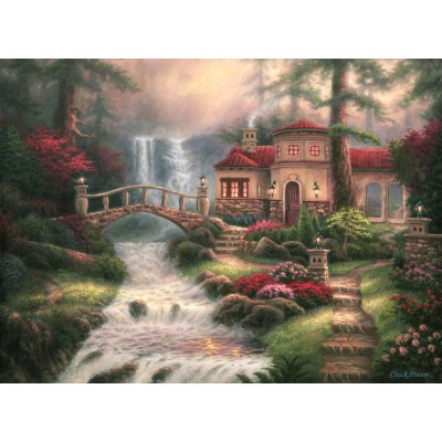 Puzzle  Grafika-02764 Chuck Pinson - Sierra River Falls
