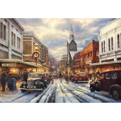 Puzzle  Grafika-02778 Chuck Pinson - The Warmth of Small Town Living