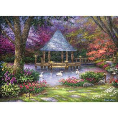 Puzzle  Grafika-02780 Chuck Pinson - Swan Pond
