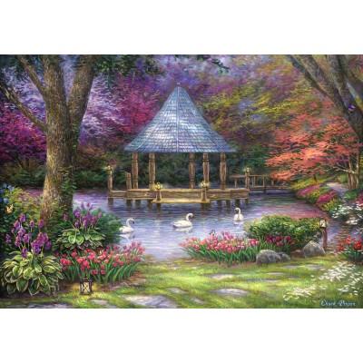 Puzzle  Grafika-02781 Chuck Pinson - Swan Pond