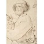 Puzzle  Grafika-02793 Brueghel Pieter - Der Maler und der Käufer, 1565