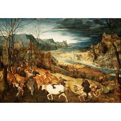 Puzzle  Grafika-02794 Brueghel Pieter - Die Heimkehr der Herde, 1565