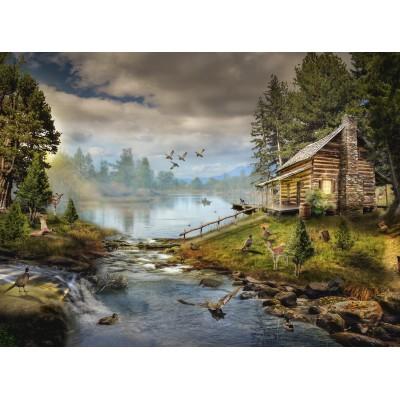 Puzzle Grafika-02829 Die Fischerhütte