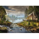 Puzzle  Grafika-02830 Die Fischerhütte