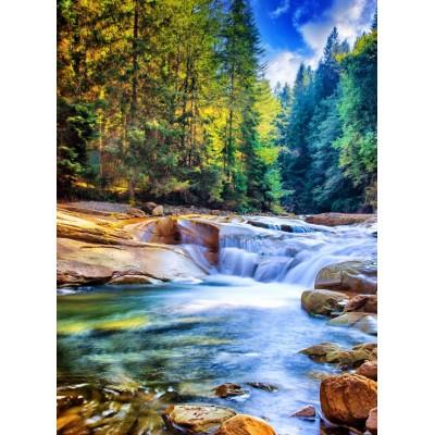 Puzzle Grafika-02832 Schöner Wasserfall im Wald