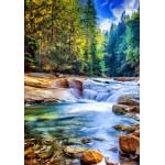 Puzzle  Grafika-02833 Schöner Wasserfall im Wald