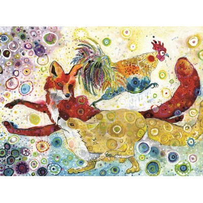 Puzzle  Grafika-02837 Sally Rich - Leaping Fox's