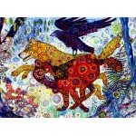 Puzzle  Grafika-02839 Sally Rich - Wolves in a Blue Wood