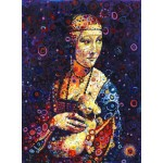 Puzzle  Grafika-02841 Leonardo da Vinci: Lady with an Ermine, by Sally Rich