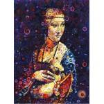 Puzzle  Grafika-02843 Leonardo da Vinci: Lady with an Ermine, by Sally Rich