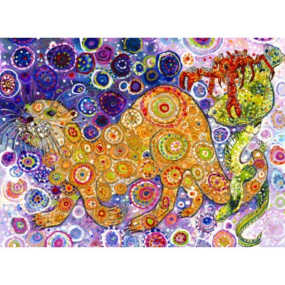 Puzzle  Grafika-02850 Sally Rich - Otters Catch